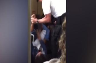 Pilot kadın yolcuyu yumrukladı