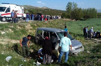 Konya'da iki araç çarpıştı: 1 ölü, 7 yaralı