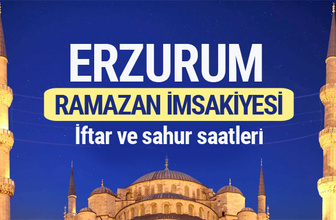 Erzurum Ramazan imsakiyesi 2017