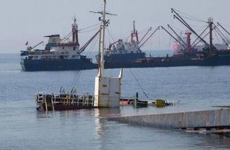 Kartal'da gemi battı işte görüntüler...