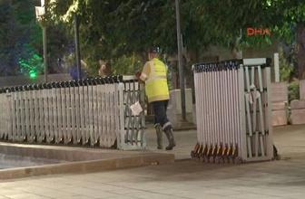 Güvenpark'ta polis önlemi başladı