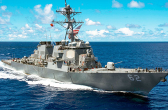 ABD destroyeri ile yük gemisi çarpıştı kayıp ve yaralılar var