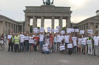 Berlin'de 'adalet' mitingi