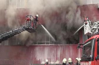 Bayrampaşa'da sanayi sitesinde yangın