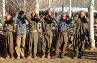 Kaçamayacaklarını anlayan PKK'lılar teslim oldu