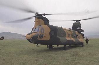 İniş yapan helikoptere roketli saldırı!