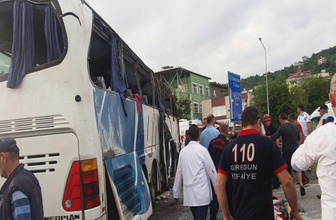 Giresun'da trafik kazası: 38 yaralı