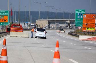 Sürücüler dikkat İstanbul yönü bir ay ulaşıma kapatıldı