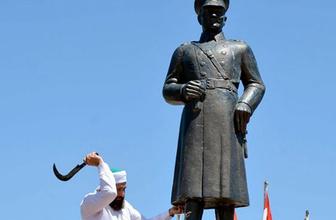 Atatürk heykeline saldırıya ilişkin hükümetten ilk açıklama