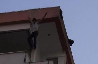 Tüm çabalara rağmen ikna olmayan genç 6. kattan atladı