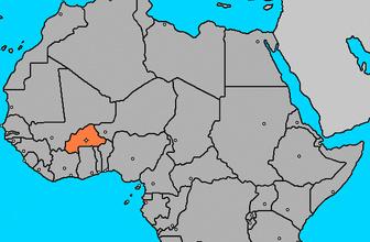 Burkina Faso nerede Afrika haritası!