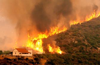 Yunanistan'da yangın 3 gündür söndürülemiyor