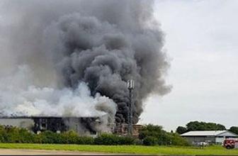İngiltere'de patlama havalimanında alarm verildi işte ilk görüntüler