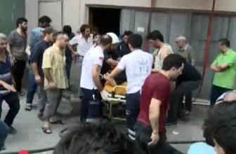 Bayrampaşa'da patlama sonrası yangın ölü ve yaralılar var
