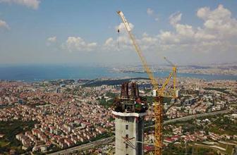 365 metrelik dev Çamlıca Kulesi bitmek üzere