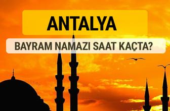 Antalya Kurban bayramı namazı saati - 2017