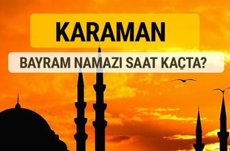 Karaman Kurban bayramı namazı saati - 2017
