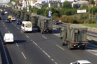 İstanbul E-5'te yüzlerce metrelik askeri konvoy!