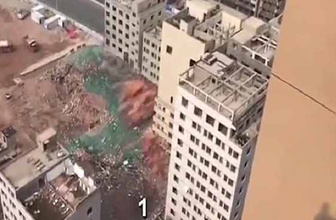 36 bina 20 saniyede böyle yıkıldı!