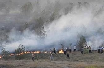 Kars'ta askeri alandaki yangın söndürüldü