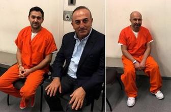 Çavuşoğlu'ndan ABD'deki tutuklu Türklere ziyaret
