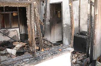 4 aylık bebeğin olduğu evi ateşe verdi