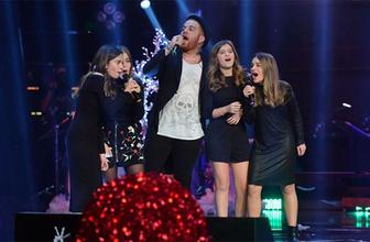 Acun Ilıcalı'nın kızı Leyla ve arkadaşları O Ses Türkiye sahnesinde