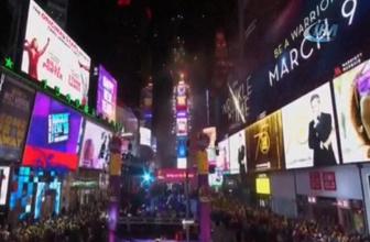 New York'ta yeni yıl coşkuyla kutlandı