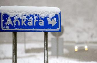 Ankara hava durumu meteoroloji kar alarmı verdi