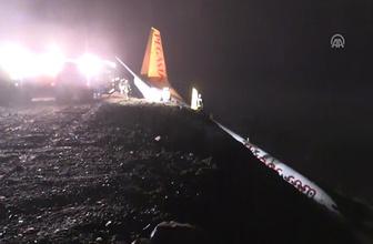 Trabzon'a iniş yapan yolcu uçağı pistten çıktı