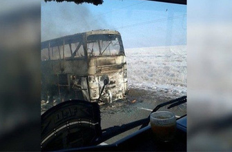 Kazakistan'da korkunç olay! Otobüs yandı: 52 kişi can verdi!
