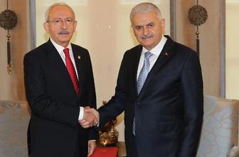 Başbakan Yıldırım ile Kılıçdaroğlu görüşmesinde dikkat çeken detay