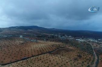 Teröristlerden temizlenen Marin köyü havadan görüntülendi