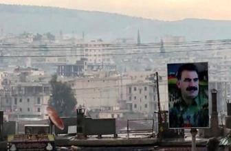 Afrin'de dikkat çeken Öcalan posterleri