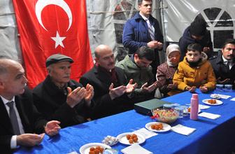 Bakan Soylu, Bitlis şehidi Hilmi Öz'ün baba evini ziyaret etti