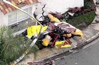 ABD'de helikopter evin üzerine çakıldı!