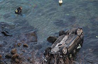 Sarıyer'de dehşet! Otomobil 150 metreden denize uçtu