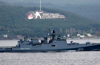 Rusya'ya ait savaş gemisi Çanakkale'den geçti!