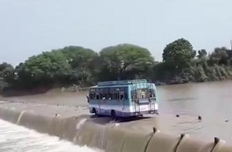 Hayatını hiçe sayan otobüs şoförünün korkunç yolculuğu kamerada!
