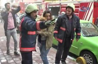 Fatih'te korkutan yangın! Sokağı duman sardı