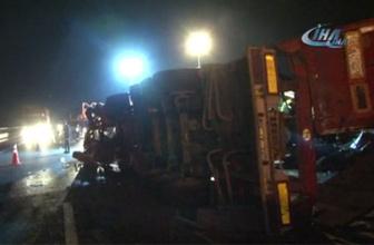 İstanbul'da korkunç kaza! Bariyerde asılı kaldı