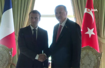 Cumhurbaşkanı Erdoğan ile Emmanuel Macron bir araya geldi