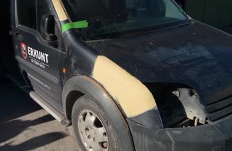 Vicdansız sürücü aracını tamir ettirirken yakalandı!
