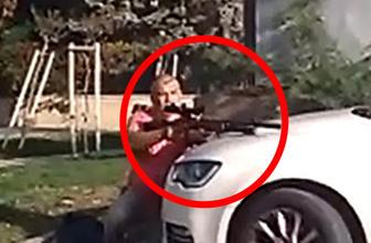 Antalya'da dehşete düşüren görüntü! Tüfeğe susturucu takıp...