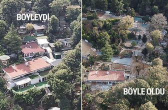 Adnan Oktar'ın villasındaki yıkım bitti işte lüks villanın eski ve yeni hali...