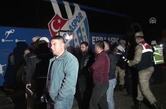Erbaaspor takım otobüsü kaza yaptı: 1 ölü, 3 yaralı