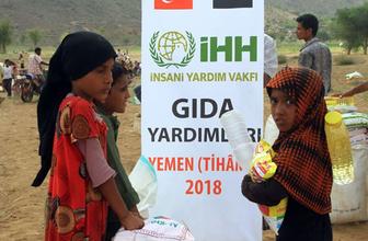 İHH İnsani Yardım Vakfı Acil Yardım Çalışmaları'nda 13 bin 255 Yemenliye gıda kolisi ulaştırdı