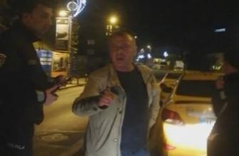 Taksicilerin UBER sürücüsüne tacizi kamerada