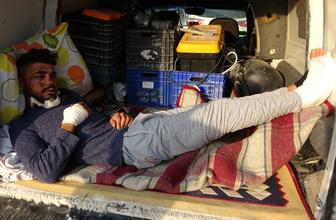 Ambulans verilmedi iki büklüm halde bagaja bindi