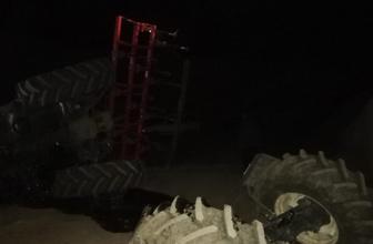 Yeni aldığı traktörle 15 metrelik viyadükten uçtu!